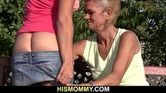 Granny seduces her son&#039_s girlfriend