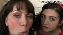 Teen couple had sex lesson from hot MILF Rayveness