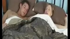 Sexy mom with great tits shares a bed with her horny son---thefamilysextube.com