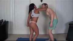 Stepson Overpowers His Stepmom - WATCH FULL video at-  FilthyGeek.com