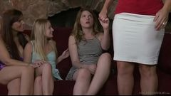 Virgin teen and her friend&#039_s mommy - Alura Jenson, Scarlett Fever
