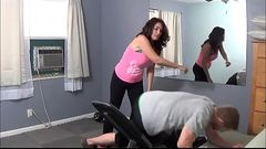 Fitness Mom Sucks Young Son&#039_s Cock - Charlee Chase - Family Therapy