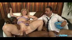 Interracial cuckold with mom 392