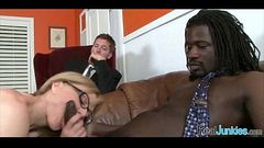 Interracial cuckold with mom 422